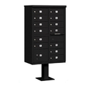 Salsbury Industries 3313BLK-P Cluster Box Unit (Includes Pedestal and Master Commercial Locks) - 13 B Size Doors - Type IV - Black - Private Access