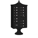 Salsbury Industries 3313R-BLK-P Regency Decorative CBU (Includes CBU, Pedestal, CBU Top, Pedestal Cover - Short and Master Commercial Locks) - 13 B Size Doors - Type IV - Black - Private Access