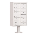 Salsbury Industries 3313WHT-P Cluster Box Unit (Includes Pedestal and Master Commercial Locks) - 13 B Size Doors - Type IV - White - Private Access
