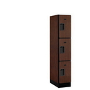 Salsbury Industries 33151MAH Designer Wood Locker - Triple Tier - 1 Wide - 5 Feet High - 21 Inches Deep - Mahogany