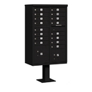 Salsbury Industries 3316BLK-U Cluster Box Unit (Includes Pedestal) - 16 A Size Doors - Type III - Black - USPS Access