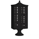 Salsbury Industries 3316R-BLK-P Regency Decorative CBU (Includes CBU, Pedestal, CBU Top, Pedestal Cover - Short and Master Commercial Locks) - 16 A Size Doors - Type III - Black - Private Access