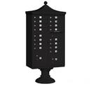 Salsbury Industries 3316R-BLK-U Regency Decorative CBU (Includes CBU, Pedestal, CBU Top and Pedestal Cover - Short) - 16 A Size Doors - Type III - Black - USPS Access