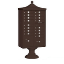 Salsbury Industries 3316R-BRZ-P Regency Decorative CBU (Includes CBU, Pedestal, CBU Top, Pedestal Cover - Short and Master Commercial Locks) - 16 A Size Doors - Type III - Bronze - Private Access