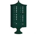 Salsbury Industries 3316R-GRN-U Regency Decorative CBU (Includes CBU, Pedestal, CBU Top and Pedestal Cover - Short) - 16 A Size Doors - Type III - Green - USPS Access