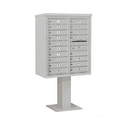 Salsbury Industries 3410D-18GRY Pedestal Mounted 4C Horizontal Mailbox Unit - 10 Door High Unit (65-5/8 Inches) - Double Column - 18 MB1 Doors - Gray