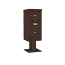 Salsbury Industries 3410SX-01BRZ Pedestal Mounted 4C Horizontal Mailbox ADA Height Compliant Unit - 10 Door High Unit (52 5/8 Inches) - Single Column - 1 MB3 Door / 1 PL5 - Bronze
