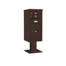 Salsbury Industries 3410SX-02BRZ Pedestal Mounted 4C Horizontal Mailbox ADA Height Compliant Unit - 10 Door High Unit (52 5/8 Inches) - Single Column - 2 MB1 Doors / 1 PL6 - Bronze