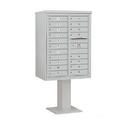Salsbury Industries 3411D-19GRY Pedestal Mounted 4C Horizontal Mailbox Unit - 11 Door High Unit (69-1/8 Inches) - Double Column - 19 MB1 Doors - Gray