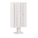 Salsbury Industries 3415D-29WHT Pedestal Mounted 4C Horizontal Mailbox Unit - 15 Door High Unit (70-1/4 Inches) - Double Column - 29 MB1 Doors - White
