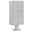 Salsbury Industries 3416D-19GRY Pedestal Mounted 4C Horizontal Mailbox Unit - Maximum Height (72 Inches) - Double Column - 19 MB1 Doors / 2 PL4.5's - Gray