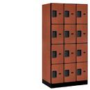 Salsbury Industries 34361CHE Designer Wood Locker - Four Tier - 3 Wide - 6 Feet High - 21 Inches Deep - Cherry