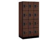 Salsbury Industries 34361MAH Designer Wood Locker - Four Tier - 3 Wide - 6 Feet High - 21 Inches Deep - Mahogany