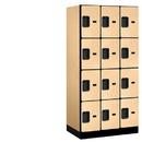 Salsbury Industries 34361MAP Designer Wood Locker - Four Tier - 3 Wide - 6 Feet High - 21 Inches Deep - Maple