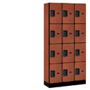 Salsbury Industries 34365CHE Designer Wood Locker - Four Tier - 3 Wide - 6 Feet High - 15 Inches Deep - Cherry