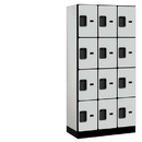 Salsbury Industries 34368GRY Designer Wood Locker - Four Tier - 3 Wide - 6 Feet High - 18 Inches Deep - Gray