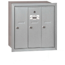 Salsbury Industries 3503ARP Vertical Mailbox (Includes Master Commercial Lock) - 3 Doors - Aluminum - Recessed Mounted - Private Access