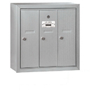 Salsbury Industries 3503ASP Vertical Mailbox (Includes Master Commercial Lock) - 3 Doors - Aluminum - Surface Mounted - Private Access