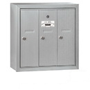 Salsbury Industries 3503ASU Vertical Mailbox - 3 Doors - Aluminum - Surface Mounted - USPS Access