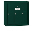 Salsbury Industries 3503GSP Vertical Mailbox (Includes Master Commercial Lock) - 3 Doors - Green - Surface Mounted - Private Access
