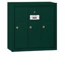 Salsbury Industries 3503GSU Vertical Mailbox - 3 Doors - Green - Surface Mounted - USPS Access