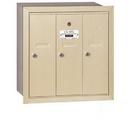 Salsbury Industries 3503SRU Vertical Mailbox - 3 Doors - Sandstone - Recessed Mounted - USPS Access