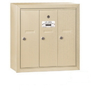 Salsbury Industries 3503SSU Vertical Mailbox - 3 Doors - Sandstone - Surface Mounted - USPS Access