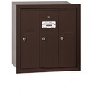 Salsbury Industries 3503ZRU Vertical Mailbox - 3 Doors - Bronze - Recessed Mounted - USPS Access