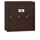 Salsbury Industries 3503ZSU Vertical Mailbox - 3 Doors - Bronze - Surface Mounted - USPS Access