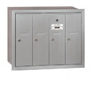 Salsbury Industries 3504ARP Vertical Mailbox (Includes Master Commercial Lock) - 4 Doors - Aluminum - Recessed Mounted - Private Access