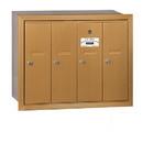 Salsbury Industries 3504BRU Vertical Mailbox - 4 Doors - Brass - Recessed Mounted - USPS Access