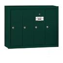 Salsbury Industries 3504GSU Vertical Mailbox - 4 Doors - Green - Surface Mounted - USPS Access