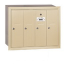 Salsbury Industries 3504SRP Vertical Mailbox (Includes Master Commercial Lock) - 4 Doors - Sandstone - Recessed Mounted - Private Access