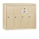 Salsbury Industries 3504SSU Vertical Mailbox - 4 Doors - Sandstone - Surface Mounted - USPS Access