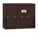 Salsbury Industries 3504ZSP Vertical Mailbox (Includes Master Commercial Lock) - 4 Doors - Bronze - Surface Mounted - Private Access