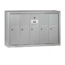 Salsbury Industries 3505ASP Vertical Mailbox (Includes Master Commercial Lock) - 5 Doors - Aluminum - Surface Mounted - Private Access