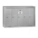 Salsbury Industries 3505ASU Vertical Mailbox - 5 Doors - Aluminum - Surface Mounted - USPS Access