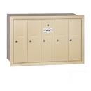 Salsbury Industries 3505SRU Vertical Mailbox - 5 Doors - Sandstone - Recessed Mounted - USPS Access