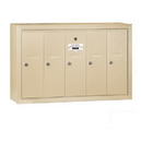 Salsbury Industries 3505SSU Vertical Mailbox - 5 Doors - Sandstone - Surface Mounted - USPS Access