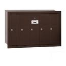 Salsbury Industries 3505ZRU Vertical Mailbox - 5 Doors - Bronze - Recessed Mounted - USPS Access
