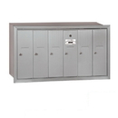 Salsbury Industries 3506ARP Vertical Mailbox (Includes Master Commercial Lock) - 6 Doors - Aluminum - Recessed Mounted - Private Access