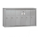 Salsbury Industries 3506ASP Vertical Mailbox (Includes Master Commercial Lock) - 6 Doors - Aluminum - Surface Mounted - Private Access