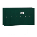 Salsbury Industries 3506GSP Vertical Mailbox (Includes Master Commercial Lock) - 6 Doors - Green - Surface Mounted - Private Access