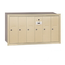 Salsbury Industries 3506SRU Vertical Mailbox - 6 Doors - Sandstone - Recessed Mounted - USPS Access