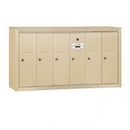 Salsbury Industries 3506SSP Vertical Mailbox (Includes Master Commercial Lock) - 6 Doors - Sandstone - Surface Mounted - Private Access