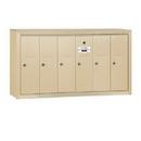 Salsbury Industries 3506SSU Vertical Mailbox - 6 Doors - Sandstone - Surface Mounted - USPS Access