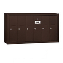 Salsbury Industries 3506ZSP Vertical Mailbox (Includes Master Commercial Lock) - 6 Doors - Bronze - Surface Mounted - Private Access