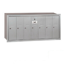Salsbury Industries 3507ARP Vertical Mailbox (Includes Master Commercial Lock) - 7 Doors - Aluminum - Recessed Mounted - Private Access