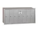 Salsbury Industries 3507ARU Vertical Mailbox - 7 Doors - Aluminum - Recessed Mounted - USPS Access
