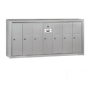 Salsbury Industries 3507ASP Vertical Mailbox (Includes Master Commercial Lock) - 7 Doors - Aluminum - Surface Mounted - Private Access